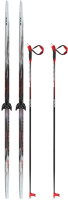 Комплект беговых лыж STC NN75 190/150 (черный) -