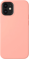 Чехол-накладка Deppa Liquid Silicone Pad для iPhone 12 Mini / 87710 (розовый) -