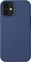 Чехол-накладка Deppa Liquid Silicone Pad для iPhone 12 Mini / 87714 (синий) -