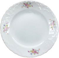 Тарелка столовая мелкая Cmielow i Chodziez Rococo / 7490-0031290 (бабушкин цветок) -