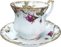 Чашка с блюдцем Cmielow i Chodziez Iwona / B013-8202I02 (шиповник) -