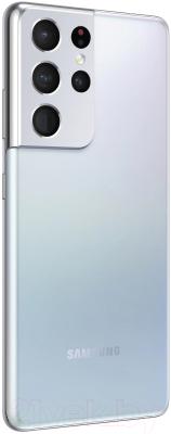 Смартфон Samsung Galaxy S21 Ultra 256GB / SM-G998BZSGSER (серебряный фантом)