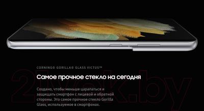 Смартфон Samsung Galaxy S21 Ultra 128GB / SM-G998BZSDSER (серебряный фантом)