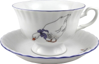 Чашка с блюдцем Cmielow i Chodziez Iwona Гусь / E280-8202I0A -