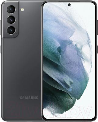 Смартфон Samsung Galaxy S21 256GB / SM-G991BZAGSER (серый фантом)