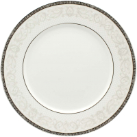 Тарелка столовая мелкая Cmielow i Chodziez Elite / B152-0D01390 (серый орнамент) -