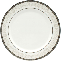 Тарелка столовая мелкая Cmielow i Chodziez Nina / B152-0N01090 (серый орнамент) -