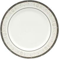 Тарелка столовая мелкая Cmielow i Chodziez Nina / B152-0N01190 (серый орнамент) -