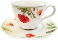 Чашка с блюдцем Cmielow i Chodziez Gloria / K232-8202G10 (полевые цветы) -