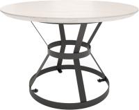 Обеденный стол Millwood Дублин Л D100x75 (дуб белый/металл черный) -