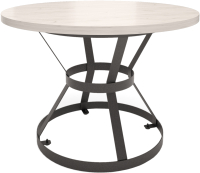 Обеденный стол Millwood Дублин Л D120x75 (дуб белый/металл черный) -