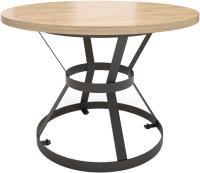 Обеденный стол Millwood Дублин Л D120x75 (дуб золотой/металл черный) -