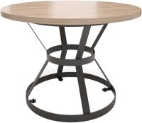 Обеденный стол Millwood Дублин Л D120x75 (дуб табачный/металл черный) -