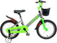 Детский велосипед Forward Nitro 16 2021 / 1BKW1K1C1023 (серый/салатовый) -