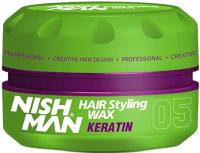 Воск для укладки волос NishMan Keratin 05 (100мл) -