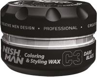 Воск для укладки волос NishMan C3 Dark Black цветной (100мл) -