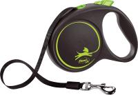 Поводок-рулетка Flexi Black Design ремень / 12374 (L, зеленый) -