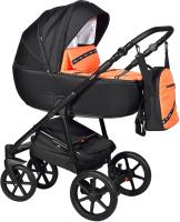 Детская универсальная коляска INDIGO Cross 2 в 1 (Cr 04, оранжевый) -