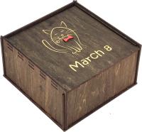 Коробка подарочная Woodstrong 3055 (25x25x10) -