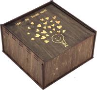 Коробка подарочная Woodstrong 3057 (25x25x10) -