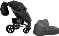 Детская универсальная коляска Bubago Model One Plus (Black/Dark Grey) -