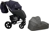 Детская универсальная коляска Bubago Model One Plus (Navy Peony/Black) -