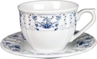 Чашка с блюдцем Lubiana Maria 3507/3516 (цветы) -