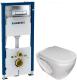 Унитаз подвесной с инсталляцией Керамин Трино МЛ + 458.128.21.1 (с жестким сиденьем) -