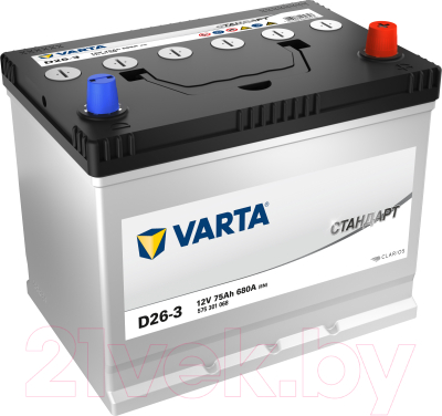 Автомобильный аккумулятор Varta Стандарт 75 JR / 575301068