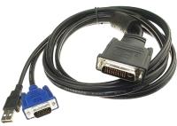 Кабель/переходник ATcom AT9506 DVI-D - VGA (1.8м, черный) -