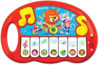 Музыкальная игрушка Азбукварик Пианино. Волшебные нотки / AZ-2784 (красный) -