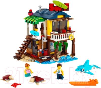 Конструктор Lego Creator Пляжный домик серферов / 31118 конструктор lego creator 40460 розы
