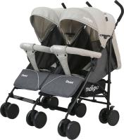 Детская прогулочная коляска INDIGO Duet (бежевый/серый) -