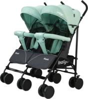 Детская прогулочная коляска INDIGO Duet (зеленый) -