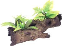 Декорация для аквариума Rosewood Коряга с растением / 911002/RW -