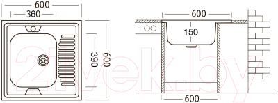 Мойка кухонная Ukinox STD600.600 4C 0R