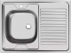 Мойка кухонная Ukinox STD800.600 5C 0LS (с сифоном) -