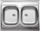 Мойка кухонная Ukinox Стандарт STD800.600 20 6C 3C (с сифоном) -
