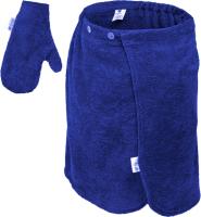 Набор текстиля для бани Банные Штучки 33514 (синий) -