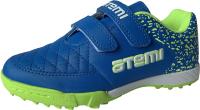 Бутсы футбольные Atemi SD150 Turf (голубой/салатовый, р-р 31) -