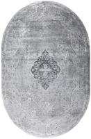 Ковер Milat Leda A813A-AGREY-CREAM-OVAL (1.5x2.3) -