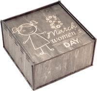 Коробка подарочная Woodstrong 3107 (25x25x10) -