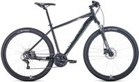 Велосипед Forward Apache 29 3.2 Disc 2021 / RBKW1M39G018 (17, черный матовый/серебристый) -