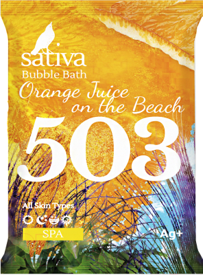 Пена для ванны Sativa №503 Апельсиновый фреш на пляже