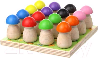 Развивающая игрушка WoodLand Toys Сортер. Грибная полянка / 152303