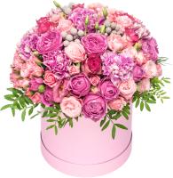 Цветы в коробке 21vek Pinkbox №9 -