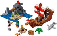 Конструктор Lego Minecraft Приключения на пиратском корабле / 21152 -