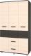 Шкаф Modern Виора В34 (венге/дуб млечный) -