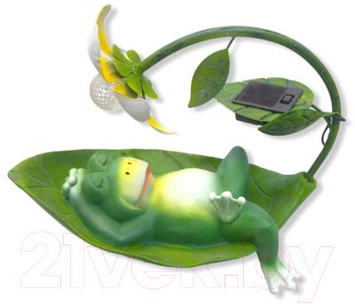 Садовая фигура-светильник Чудесный Сад 519 Лягушонок на солнышке садовая фигура красный ара на коряге 9 5х7х24см 5155107
