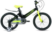 Детский велосипед Forward Cosmo 16 2.0 2021 / 1BKW1K7C1010 (черный/желтый) -